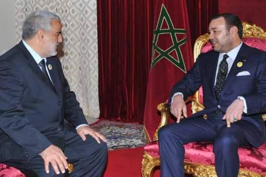 PM Abdeilah Benkirane with King Mohamed VI