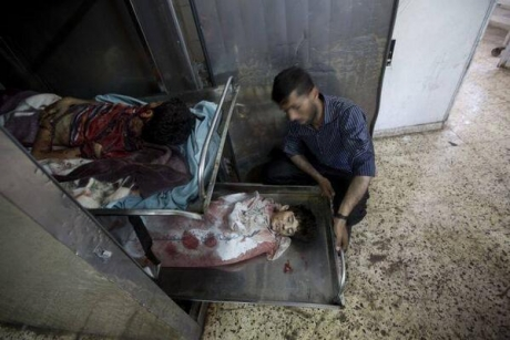 Palestinian children killed in Gaza by Israeli occupation forces missiles, July 11, 2014 imemc